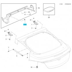 Ustalacz rynienki odpływowej klapy bagażnika GM13336985 (Opel Insignia)