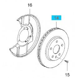 """Tarcza hamulcowa przednia 16"""" GM13579147 (Opel Insignia)"""