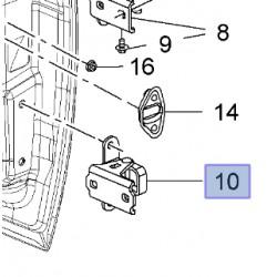Zawias drzwi przednich dolny, prawy 13228959 (Insignia)