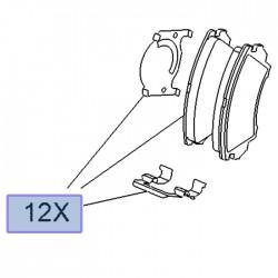 Klocki hamulcowe przednie 22959104 (Astra J, Insignia A, Zafira C)