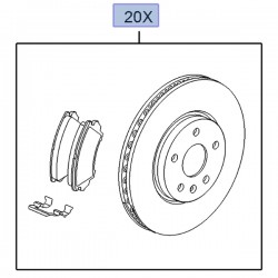 Zestaw hamulcowy przedni klocki + tarcze 95516090 (Insignia A)