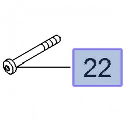 Śruba sprzęgła mechanizmu różnicowego 13280079 (Insignia A)