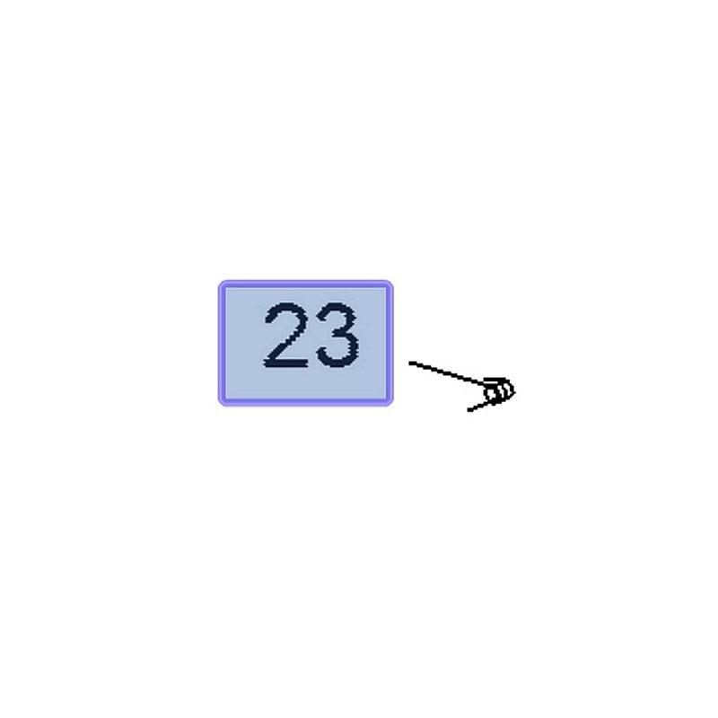 Sprężyna klapki zamka w pasie tylnym 23153047 (Insignia A)