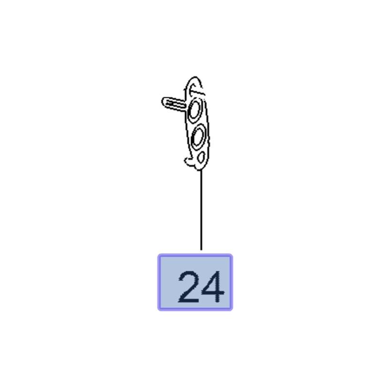 Uszczelka przewodu trubo 55584715 (Antara, Astra J, K, Cascada, Insignia A, Meriva B, Zafira C)