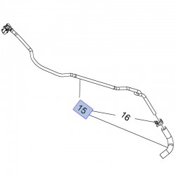 Rurka wlotowa nagrzewnicy 25192904 (Astra H,J, Insignia, Zafira B 1.6/1.8)