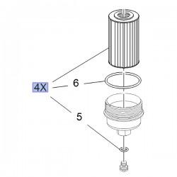 Filtr oleju, wkład 95526687 (Astra J, K, Insignia A, B, Meriva B, Mokka, Zafira C)
