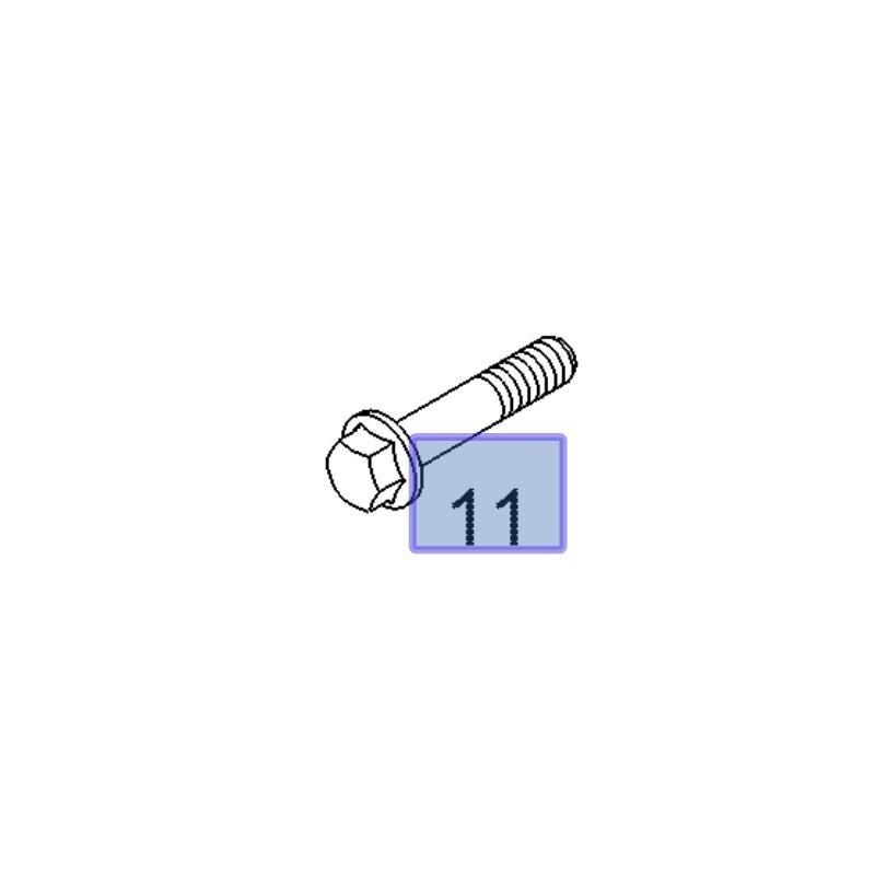 Śruba koła wału korbowego 93178819 (Astra H, J, Cascada, Insignia A, Signum, Vectra C, Zafira B, C)
