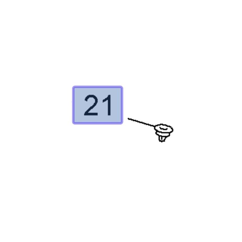 Spinka rynienki odpływowej klapy 13275952 (Insignia A)
