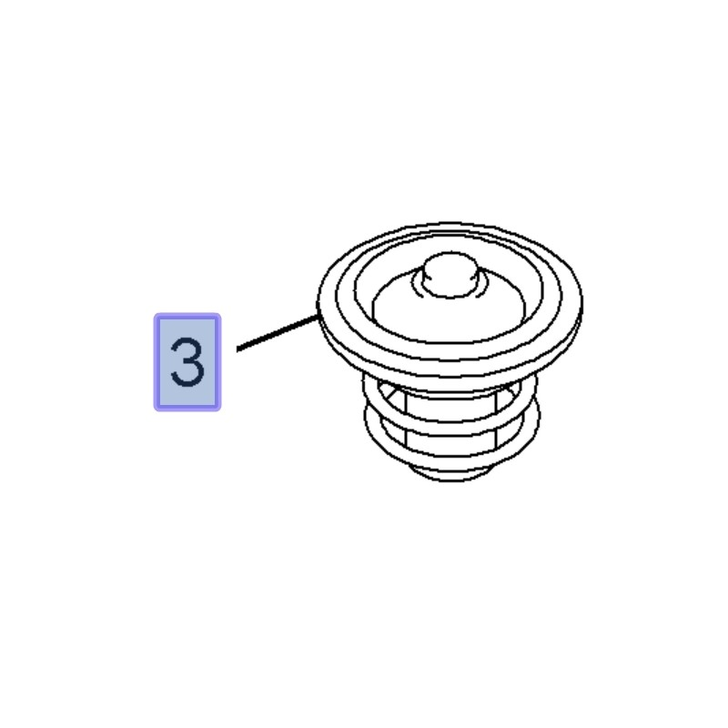 Termostat 12622410 (Antara, Astra J, Insignia A, GT, Signum, Vectra C)