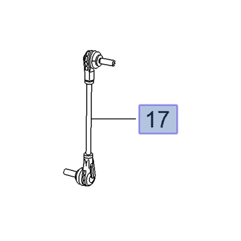 Łącznik stabilizatora przedniego, prawy 84077103 (Insignia B)