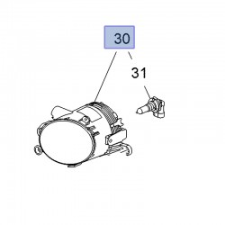 Halogen prawy (Astra J, Crossland X, Insignia A, Meriva B)