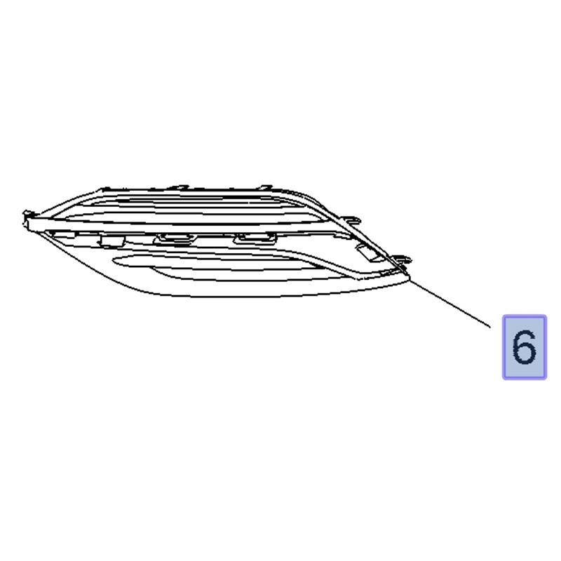 Zaślepka, kratka halogenu prawego 39112404 (Insignia B)