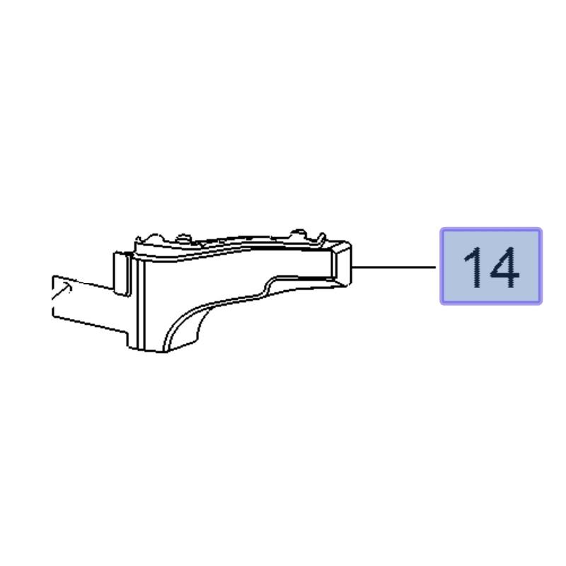 Ślizg zderzaka przedniego, prawy 39108756 (Insignia B)
