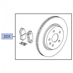 Zestaw tarcze i klocki tylne 95516092 (Insignia A)