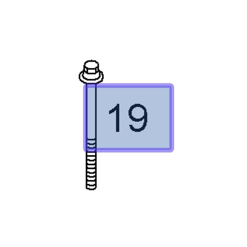 Śruba absorbera przedniego 11100951 (Corsa C, Insignia A, Meriva A, Speedster, Tigra B)