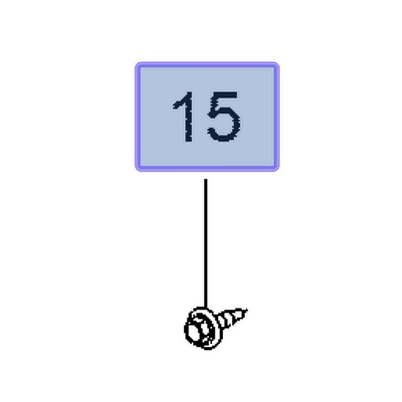 Śruba M4.2x16 11589011 (Ampera-e, Antara, Astra K Cascada, Crossland X, Insignia A, B, Mokka X)