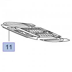 Mata grzewcza siedzenia przód, ogrzewanie siedziska 20806765 (Insignia A)