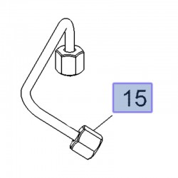 Przewód paliwowy wtryskiwacza 55493543 (Antara, Cascada, Insignia A, B, Zafira C)