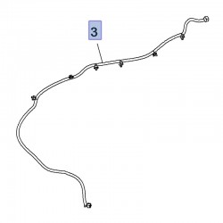 Przewód, wąż spryskiwacza szyby przedniej 39083329 (Insignia B)