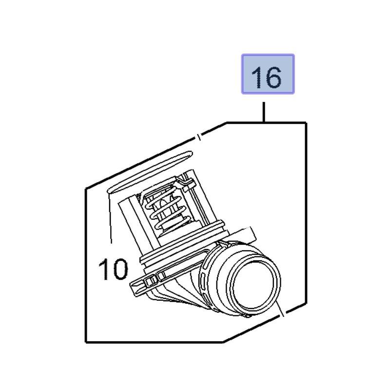 Termostat 1.6 55513549 (Astra J, K, Insignia A, B, Meriva B, Mokka X, Zafira C)