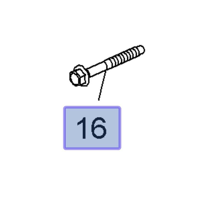 Śruba wahacza przedniego 11611833 (Insignia A)