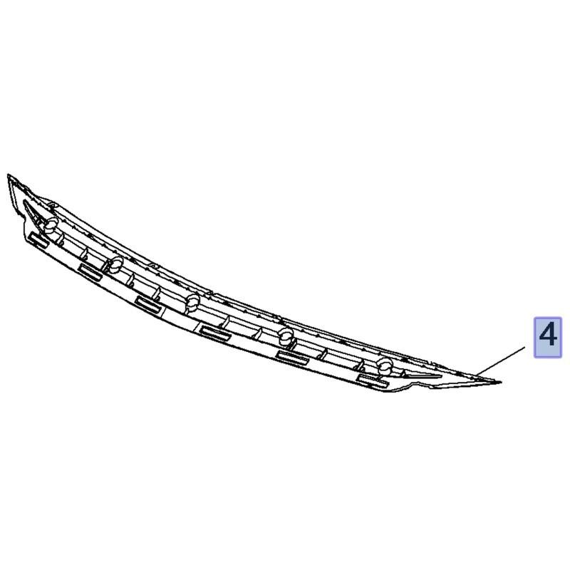 Wspornik środkowy zderzaka przedniego 39136418 (Insignia B)