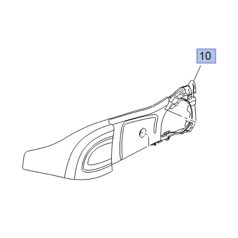 Osłona boczna fotela pasażera, prawa 13486202 (Astra K, Crossland X, Insignia B)